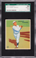 Baseball Cards:Singles (1930-1939), 1933 Goudey Johnny Vergez #233 SGC 92 NM/MT+ 8.5....