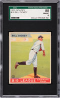 Baseball Cards:Singles (1930-1939), 1933 Goudey Bill Dickey #19 SGC 88 NM/MT 8 - None Higher. ...