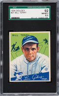Baseball Cards:Singles (1930-1939), 1934 Goudey Bill Terry #21 SGC 92 NM/MT+ 8.5 - Highest SGC Graded Example! ...