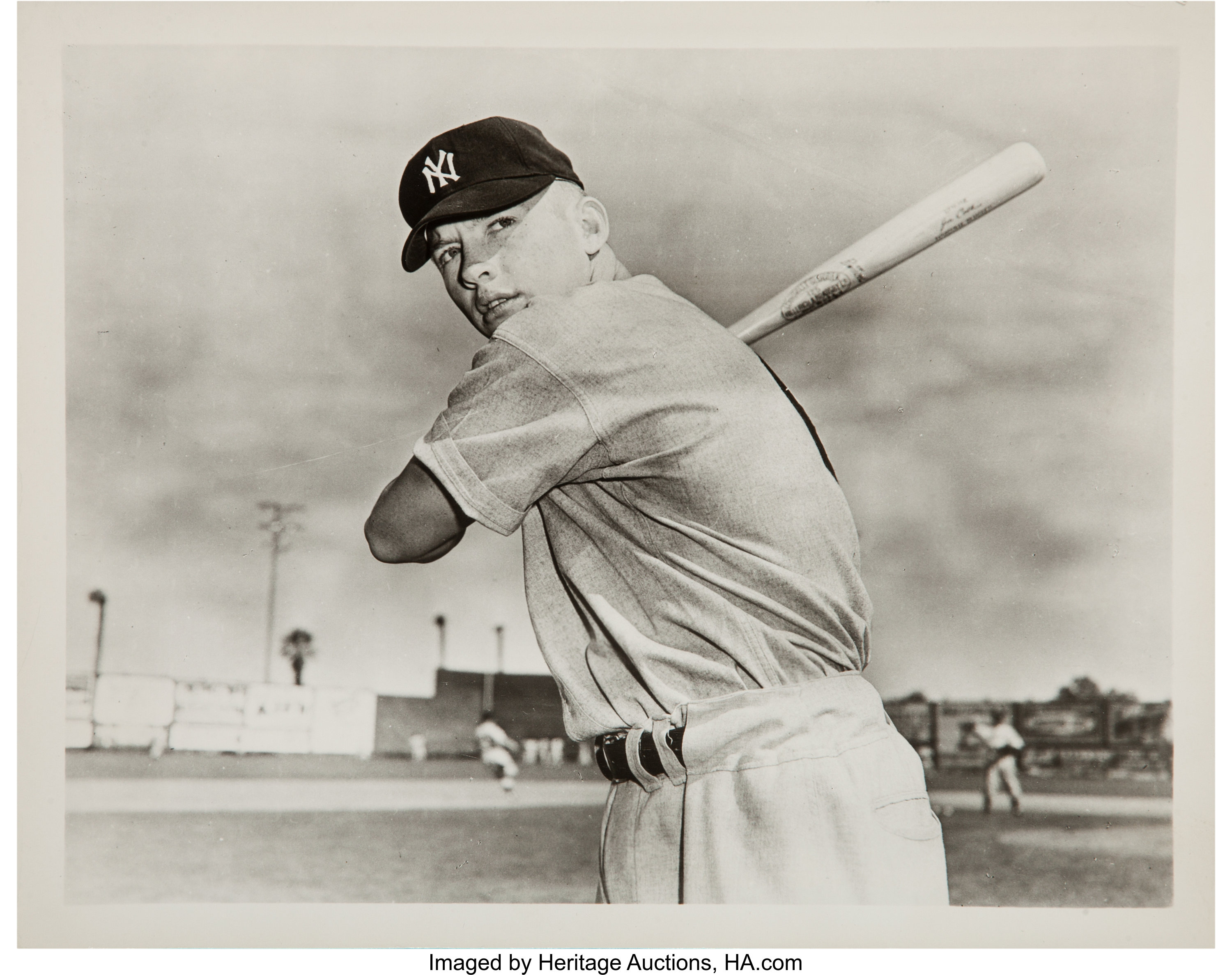 1951 Mickey Mantle Original News Photograph Used For 1951