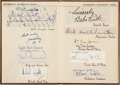 Baseball Collectibles:Others, Circa 1935 Waterman's Autograph Album Signed by Babe Ruth, Others....