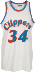 Basketball Collectibles:Uniforms, 1982-84 Terry Cummings Game Worn San Diego Clippers Jersey....