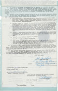 Baseball Collectibles:Others, 1949 Joe DiMaggio Signed Capitol Records Music Contract....