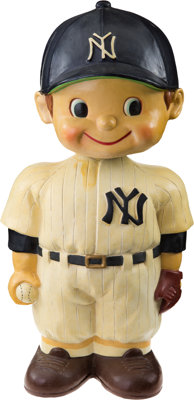 """1961-62 New York Yankees Oversized Promotional Nodder (14"""")--One of Two Known!"""