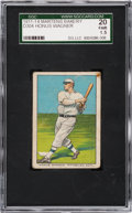 Baseball Cards:Singles (Pre-1930), 1911-14 D304 Marten Bakery Honus Wagner SGC 20 Fair 1.5 - The OnlySGC or PSA Example! ...