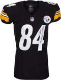 Football Collectibles:Uniforms, 2013 Antonio Brown Game Worn, Unwashed, Signed Pittsburgh Steelers Jersey - Worn in 2 TD Game on 12/15 Vs. Cincinnati. ...