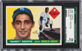 Baseball Cards:Singles (1950-1959), 1955 Topps Sandy Koufax #123 SGC 96 Mint 9 - None Higher....