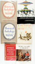 Books:Music & Sheet Music, [Music.] Group of Six Books of Music History. Various publishersand dates.... (Total: 6 Items)