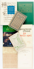 Books:Music & Sheet Music, [Music.] Group of Eight Books about Pre-20th Century Music. Various publishers and dates.... (Total: 8 Items)