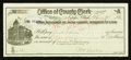 Miscellaneous:Other, Nephi, UT- The Office of the County Clerk $5 Check May 6, 1896. ...