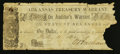 Obsoletes By State:Arkansas, (Little Rock), AR- The State of Arkansas $1 July 4, 1862 Cr. 22. ...