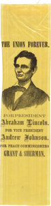 Political:Ribbons & Badges, Abraham Lincoln: Brightly Colored Portrait Ribbon....