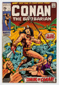 Bronze Age (1970-1979):Adventure, Conan the Barbarian #1 (Marvel, 1970) Condition: FN/VF....