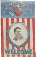 Political:3D & Other Display (1896-present), Theodore Roosevelt: Large Welcome Banner....