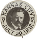 Political:Pinback Buttons (1896-present), Theodore Roosevelt: One of the very best 1912 Bull MooseVarieties....