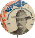 Political:Pinback Buttons (1896-present), Theodore Roosevelt: Rare 1 ¾-inch Variant from the Las Vegas, NewMexico Rough Rider Reunion....