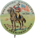Political:Pinback Buttons (1896-present), Theodore Roosevelt: Classic Colorful San Juan Hill 1904 1 ¼-inchCampaign Button....