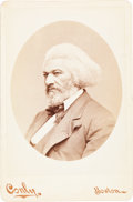 Photography:Cabinet Photos, Frederick Douglass: A Cabinet Card by Conly of Boston, in Superior Condition....