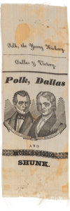 Political:Ribbons & Badges, Polk & Dallas: Jugate Silk Ribbon....