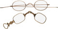 Political:Presidential Relics, [Zachary Taylor]: Pair of Eyeglasses.... (Total: 2 Items)