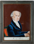 Political:3D & Other Display (pre-1896), Martin Van Buren: Large Size Reverse Painting on Glass....