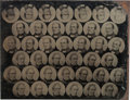 Political:Ferrotypes / Photo Badges (pre-1896), Bell & Everett: Uncut Sheet of Ferrotype Portraits....