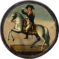 Political:3D & Other Display (pre-1896), George Washington: Hand-Painted Equestrian Snuff Box....