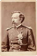 Photography:CDVs, George Armstrong Custer: A Very Special Cabinet Photo Inscribed by his Wife Elizabeth....