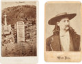 "Photography:CDVs, ""Wild Bill"" Hickok: Two Rare Cartes de Visite.... (Total: 2 Items)"