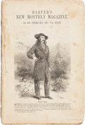 "Miscellaneous:Catalogs, ""Wild Bill"" Hickok: A Rare 1867 Magazine with Illustrated FeatureArticle about his Exploits...."