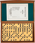 """Political:Presidential Relics, """"Senator and Mrs. John F. Kennedy"""": A Set of Dominoes Owned by the Couple...."""
