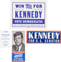 Political:Presidential Relics, Four John Kennedy Paper Campaign Items.... (Total: 4 Items)