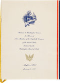 Political:Presidential Relics, [John F. Kennedy]. 1947 Congressional Dinner Menu....