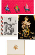 Autographs:U.S. Presidents, [John F. Kennedy]. Four Christmas Cards.... (Total: 4 Items)