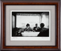 Autographs:Celebrities, Jacques Lowe: John F. Kennedy and Jacqueline Kennedy Photograph,Diner II, Signed by the Photographer....