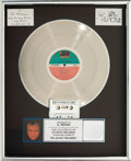 Music Memorabilia:Awards, Phil Collins No Jacket Required RIAA Multi-Platinum RecordAward (Atlantic 81240, 1985)....