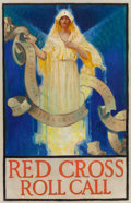 Mainstream Illustration, AMERICAN ARTIST (20th Century). Red Cross Roll Call. Oil oncanvas. 30 x 20 in.. Not signed. ...