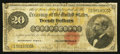 Large Size:Gold Certificates, Fr. 1178 $20 1882 Gold Certificate Very Good.. ...