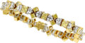 Estate Jewelry:Bracelets, Colored Diamond, Diamond, Platinum, Gold Bracelet. ...
