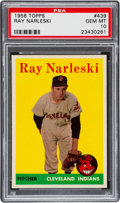 Baseball Cards:Singles (1950-1959), 1958 Topps Ray Narleski #439 PSA Gem Mint 10 - The Reigning PSAChampion! ...