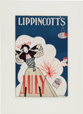 Advertising:Signs, July 4th Lippincott's Poster....