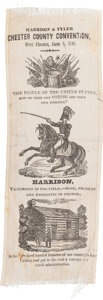Political:Ribbons & Badges, William Henry Harrison: Busy Campaign Ribbon....