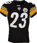 Football Collectibles:Uniforms, 2010 Tyrone Carter Game Worn, Unwashed Pittsburgh Steelers Jersey - Worn 1/3 Vs. Miami....