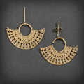 Pre-Columbian:Metal/Gold, A PAIR OF SINU GOLD EARRINGS ... (Total: 2 Items)