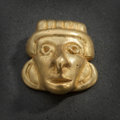 Pre-Columbian:Metal/Gold, CALIMA GOLD PENDANT IN FORM OF DEEPLY-SCULPTED HUMAN FACE...