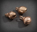 Pre-Columbian:Metal/Gold, THREE SINU GOLD BELLS ...