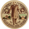 Political:Pinback Buttons (1896-present), William Jennings Bryan: Classic Lincoln to Washington Button....