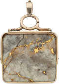 Western Expansion:Goldrush, Gold Quartz Watch Fob....
