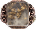 Western Expansion:Goldrush, Gold Flakes Ring....