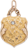 Western Expansion:Goldrush, Handbag Shaped Gold Photo Locket....